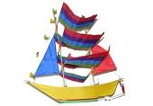 One World is Enough Großer Traditioneller Handgefertigter Segeln Boot/Pirat Boot Drachen - Fair Trade
