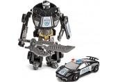 alles-meine.de GmbH Polizei Auto - Transformer - Roboter - zum Umbauen / Bauen + Konstruieren - Spielzeugtransformer - Roboterauto umbaubar - für Kinder / Spielzeug - Lernspielze..