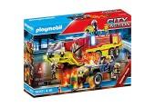 PLAYMOBIL City Action 70557 Feuerwehreinsatz mit Löschfahrzeug Inkl. Licht- und Soundeffekt Für Kinder von 4 - 10 Jahren