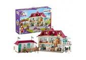Schleich 42416 Horse Club Spielset - Großer Pferdehof mit Wohnhaus und Stall Spielzeug ab 5 Jahren