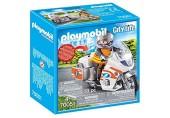 PLAYMOBIL 70051 City Life Notarzt-Motorrad mit Blinklicht bunt