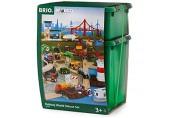 BRIO Bahn 33766 - Großes Premium Set in Kunststoffboxen