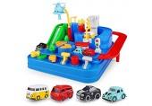 Dettelin Rennstrecken Auto-Abenteuerspielzeug Rennstrecken Fahrzeug-Puzzle Autospur-Spielsets Lernspielzeug für Kleinkinder Kinder ab 3 Jahren