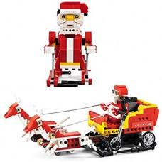 FXQIN Ferngesteuerter Baustein Roboter Weihnachts-Aktivbaustein-Spielzeugset Smart Sound and Light Sensing für Jungen Mädchen Geschenk für Kinder