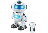 KIKIRon Roboter Spielzeug Elektrischer intelligenter Roboter Ferngesteuerter RC Tanzen Roboter (Farbe : Weiß Größe : 23x15cm)