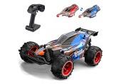 YIMAN RC Auto-Fernbedienung 20 km / h Hochgeschwindigkeits-2 4-GHz-Fernbedienung Buggy-Rennwagen mit Zwei Schalen 800 mAh wiederaufladbare Batterien 1:22 2WD-Spielzeuglastwagen für Kinder