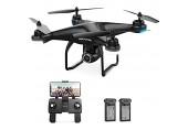 Holy Stone GPS Drohne HS120D mit 2K Kamera HD Live Video Follow Me für Anfänger RC Quadrocopter ferngesteuert mit 2 Akkus Lange Flugzeit Handysteuerung Return Home Flugbahn Funktion für Kinder