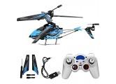 Ferngesteuerter Hubschrauber 2 4 GHz 3 5-Kanal Fernbedienung Flugzeug Alloy Mini RC Hubschrauber für Kinder und Erwachsene Einfach zu Fliegen für Anfänger(Blau)
