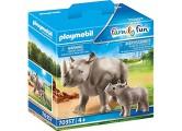 PLAYMOBIL 70357 Nashorn mit Baby ab 4 Jahren