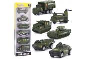 Dreamon Spielzeugautos Militär Fahrzeuge Spielzeug Set Mini Cars Modelle aus Metalllegierung für Kinder ab 3 Jahren 6 Pcs