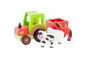 ULYSSE Traktor Transport von Tieren Anhänger 3974 Rot Grün Braun Einheitsgröße