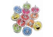 L+H 12x Kreisel für Kinder | Hochwertige Kreisel im Smiley Design | Kreisel ideal als Mitgebsel Mitbringsel Gastgeschenk Giveaway zum Kindergeburtstag oder als Beschäftigung für die Kinder Zuhause