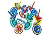 LISOPO 15 Stück Kreisel aus Holz Holzkreisel Spielzeug Bunt Spielzeugkreisel Mitgebsel ┃ Kindergeburtstag ┃Partybeutelfüller ┃Partydekorationszubehör