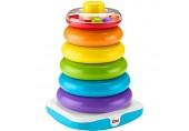 Fisher-Price GJW15 - Gigantische Farbring Pyramide Stapelspielzeug mit Ringen für Babys und Kleinkinder Baby Spielzeug ab 1 Jahr