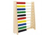 100-Bead Wooden Frame Abacus for Kids Math Natural Wood Safe Paint Colorful Counting Frame Children Early Educational Toy Gift