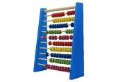 Abacus Mini Holz Abacus Kinder frühen Mathe lernen Spielzeug Zahlen zählen Berechnung Perlen Abacus pädagogisches Spielzeug Blue