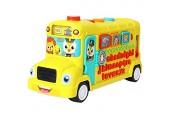 Abakus Spielzeug Frühe Bildung 3 ~ 6YEAR Olds Baby Spielzeug Happy Schulbus mit Licht / Musik für Kinder und Kinder Pädagogisches Spielzeug (Farbe: gelb Größe: Freie Größe) Intelligenz entwickeln TIN