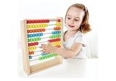 CJJC Regenbogen-Bead Abacus Holz Plus Minus Zählrahmen pädagogisches Spielzeug für Kinder Kleinkinder Junge Mädchen