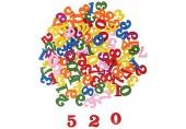FLAMEER 100pcs Mischfarbe Holzzahlen Holznummern Montessori Mathe Spielzeug von 0-9 ca. 1.5 x 0.3 x 1.5cm
