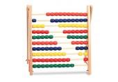 Hölzerne Abacus Klassische Zählen Werkzeug Holz Counting Bead Abacus Zählrahmen pädagogisches Spielzeug mit 100 bunten Perlen
