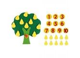 HUSHUI Pear Tree Match Digitales Lehrspielzeug Vlies Puzzle Kreatives Spielzeug Kindergarten Kinder Mathe Spielzeug
