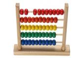 KISSFRIDAY Mini Holz Abakus Kinder Frühe Mathematik Lernen Spielzeug Zahlen Zählen Berechnen Perlen Abakus Montessori Lernspielzeug
