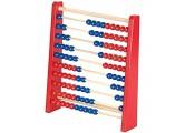 Playtastic Abakus: Holz-Rechenschieber mit 100 Holzperlen 2 Farben (blau & rot) (Rechenrahmen)