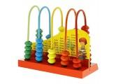 Unbekannt Kinder Lernspielzeug - Abacus Zählrahmen aus Holz - Rot
