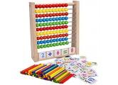 YUY Holzrahmen Abakus Spaß Pädagogisches Zählspielzeug Bunter Zählrahmen Kinder Frühes Pädagogisches Spielzeuggeschenk Für Jungen Und Mädchen