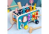 ATopoler Holzhammer-Spielzeug Lernspielzeug aus Holz für 1 2 3 Jahre + Jahre Elefanten-Spielzeug Geschenk zum Geburtstag zu Weihnachten