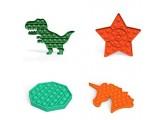 WZL Dimple Spielzeug Pop Bubble Toys Einfaches Dimple Antistress Stress Reliever Spiel Für Muster Erwachsene Kinder