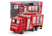 Legierung Technisches Spielzeug Bergbau-LKW Kindergeburtstagsgeschenk Feuerwehrauto - Mehrere technische Fahrzeuge Simulation Auto Modell Spielzeug für Weihnachtsfest Geschenk (rot - E)