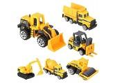Zerodis Legierung Kunststoff Spielzeugauto Baufahrzeuge Bagger Lastwagen Geburtstagsgeschenk für Kleinkind Kinder 6Pcs