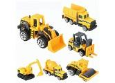 ZJchao 6 Stück / Set Kinderbagger Lernspielzeug altes Kinderspielzeug Engineering Truck Spielzeug im Maßstab 1:64 Mini Fahrzeugmodell für Kinder Montage Spielzeug Auto LKW Bagger Spielzeug