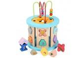Aktivitätswürfel Baby Early Learning Activity-Würfel Spielzeug Spielzeug Große Multifunktions-Holz Aktivität Cube Bead Maze Ausbildung for Kinder Activity Center für Kinder Kleinkinder Geschenke