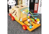 CMOIR Aktivitätswürfel Perlen Labyrinth Lernen Auto Bildungsaktivität Spielzeug Early Learning Activity-Würfel Spielzeug Beste for Babys Holzrollenuntersetzer Spielzeug