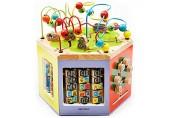 Huangjiahao Activity Cube Spielzeug Baby-Activity-Würfel Spielzeug Play Center Holzperle Maze Tierform-Sorter Lernen Developmental Spielzeug für Kleinkinder Kid Geschenk