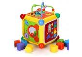 Schatz Aktivität Cube Bead Maze Baby-Kleinkind Activity Cube Spiele Lernen Interaktive Bildungszentrum Spielzeug Geschenk for Kleinkinder Bead Maze Form ( Color : Multi-colored  Size : Free size )