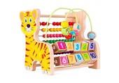 Sortierer Perlen Labyrinth Spielzeug Holz Aktivität Cube Spielzeug for Kinder zu entdecken 3 Jahre Farm Animal Activity Center for frühe Lernen und die Entwicklung von Bildungs-Spielzeug Achterbahn Vo