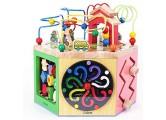 XMSIA Multifunktions Perlen Labyrinth Entdecken Sie Tiere auf dem Bauernhof Activity Center for Early Learning Activity-Würfel Spielzeug Kinder-Bead Maze Toy Holzaktivität Cube Spielzeug