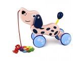 YoungRich Nachziehspielzeug Baby & Kleinkindspielzeug Mehrfarbig für Kinder ab 1 Jahr (Hund)