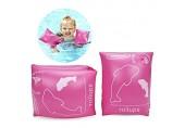 ALIXIN-Floater aufblasbare schwimmende aufblasbare Armbänder Ringe Floater Ärmel Schwimmen Ringe Schlauch Armbinden für Kinder Kleinkinder und Erwachsene.(0-4 Jahre altes Kind Rosa)