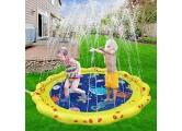 Baby-Schwimmschwimmen Schwimmenring mit Sitzkind Floats Einstellbarer aufblasbarer Baby-Pool-Float mit manueller Pumpe Float-Spielzeug und Abnehmbarer Sonnenkappe (6-30 Monate) BJY969