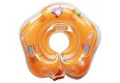 LOTONJT Baby Schwimmring Aufblasbarer Schwimmen Halsring Mitwachsende Schwimmhilfe Schwimmsitz Kleinkinder ab 6 Monate bis 3 Jahre (Orange)