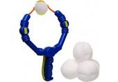 alles-meine.de GmbH Schneeballschleuder & 4 weiße Schneebälle - Ø 6 cm - Innen & Außen - Spielzeug - Schleuder Katapult - zum Spielen - knirschen wie echter Schnee - Stoff-Watte ..