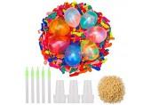 Pack of 1000 Water Balloons Colourful Mixed Water Bomb Balloons with Hose Nozzles Fast Water Filling for Kinder und Erwachsene Schwimmbad Strand Wasserschlacht Sommeraktivitäten im Freien