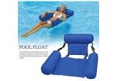 COWINN Aufblasbares Schwimmbett Wasser-Hängematte 4-in-1Loungesessel Pool Lounge luftmatratze Pool aufblasbare hängematte Pool aufblasbare hängematte für Erwachsene und Kinder (Blue)