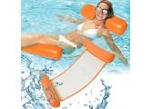 RHESHINE Aufblasbares Schwimmbett Wasser-Hängematte 4-in-1Loungesessel Pool Lounge luftmatratze Pool aufblasbare hängematte Pool aufblasbare hängematte (Orange)