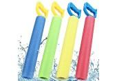 WENTS Wasserspritzpistolen 4 Stück Wasserspritzpistole Schaumstoff Kinder Schaum Wasserpistole Spritzpistole Spielspaß für Kinder im Sommer garantiert (Vier Farben)