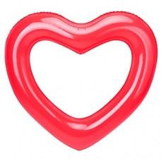 MoKo Herzförmige Schwimmring 120CM Aufblasbare Schwimmringe Luftmatratze Schwimmreifen Sommer Schwimmende Bett Schwimmhilfe Wasserspielzeug